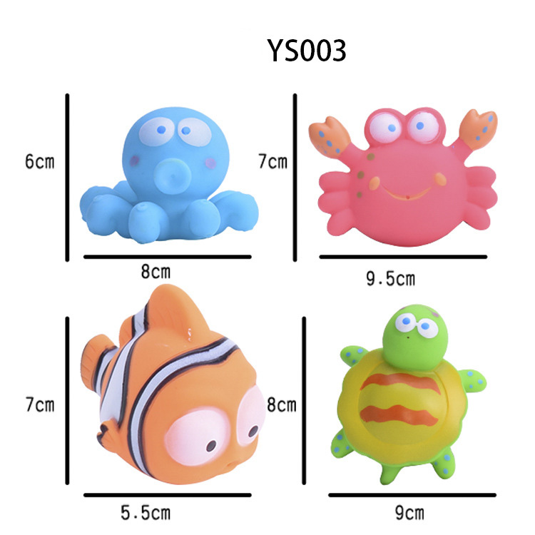 Cross border children 39 s silicone gel bathing suit cartoon animal vegetable pinch call baby shower toy in Bath Toy from Toys amp Hobbies