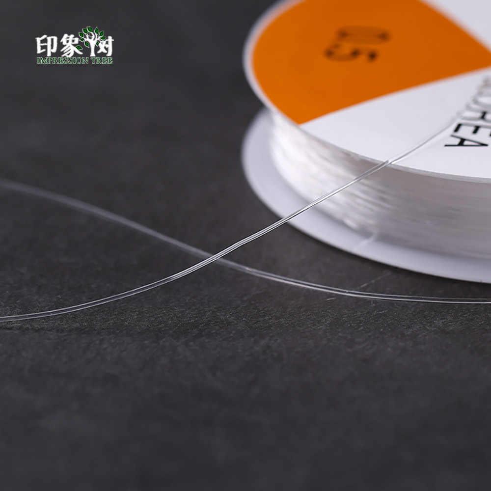 """0,5/0,7/0,8/1,0 мм катушка круглый перекрестной-раздел Crystal Clear эластичные Бисер провод шнур нити """"сделай сам"""" для изготовления ювелирных изделий, 401"""
