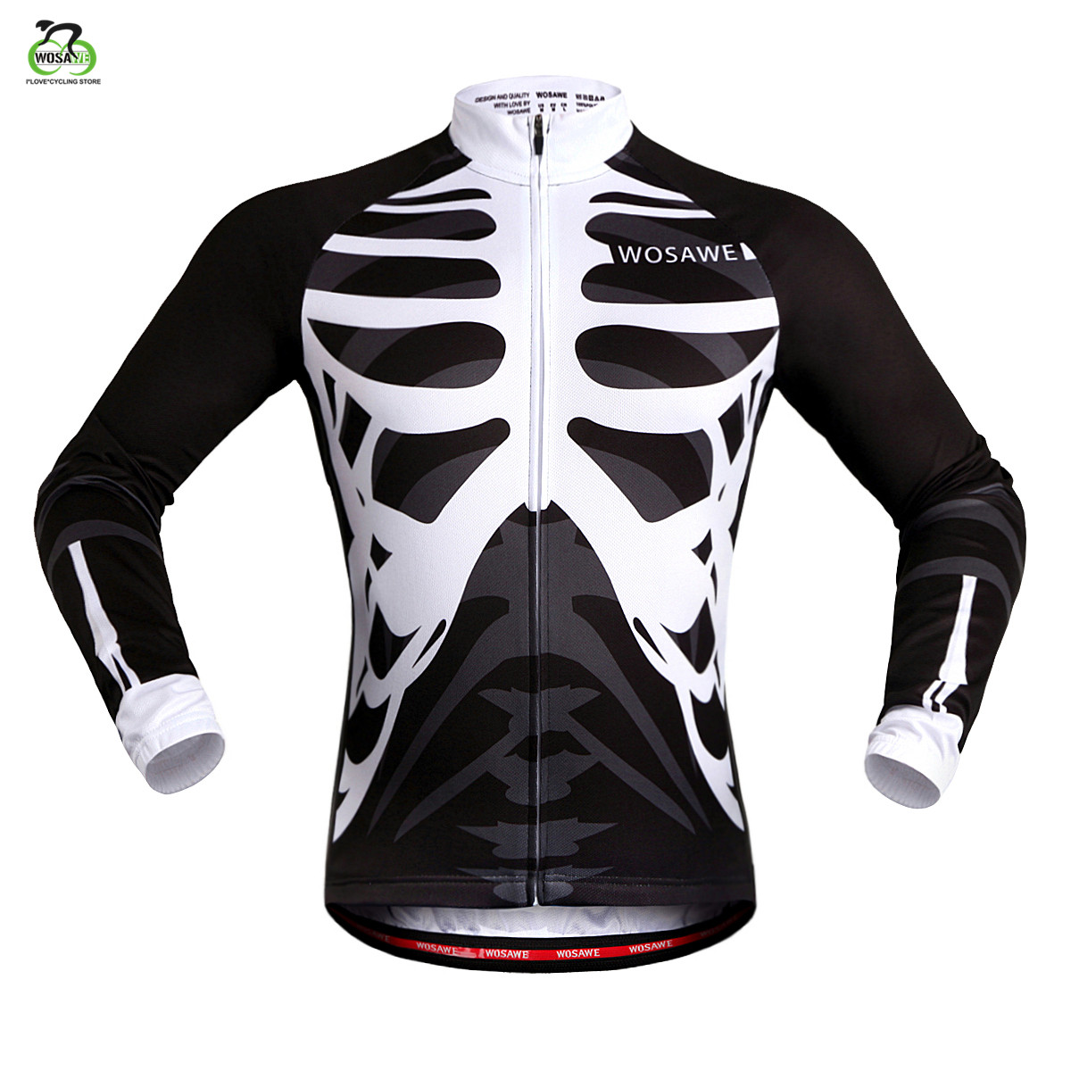 WOSAWE long sleeves Cycling Jersey 2019 Men MTB Downhill Jerseys Breathable Bike shirt Motocross Sports Cycling Clothing Jersey