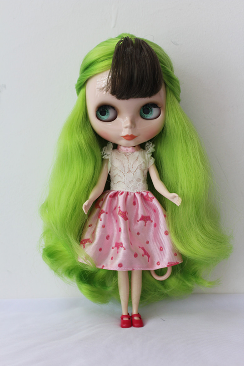 Free Shipping big discount RBL-170DIY Nude Blyth doll birthday gift for girl 4colour big eyes dolls with beautiful Hair cute toy free shipping bjd joint rbl 415j diy nude blyth doll birthday gift for girl 4 colour big eyes dolls with beautiful hair cute toy