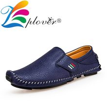 цены Handmade Men Casual Shoes Mocassin Homme Soft Leather Shoes Men Loafers Big Size Breathable Comfortable Male Flat Driving Shoes