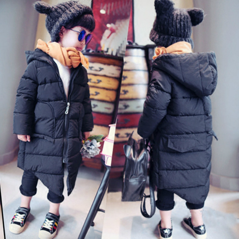 Winter Girls Hooded Coat Kid Warm Coat Christmas Snow Jacket Girl Long Sleeve School Cute WindProof Cotton-padded Outerwear