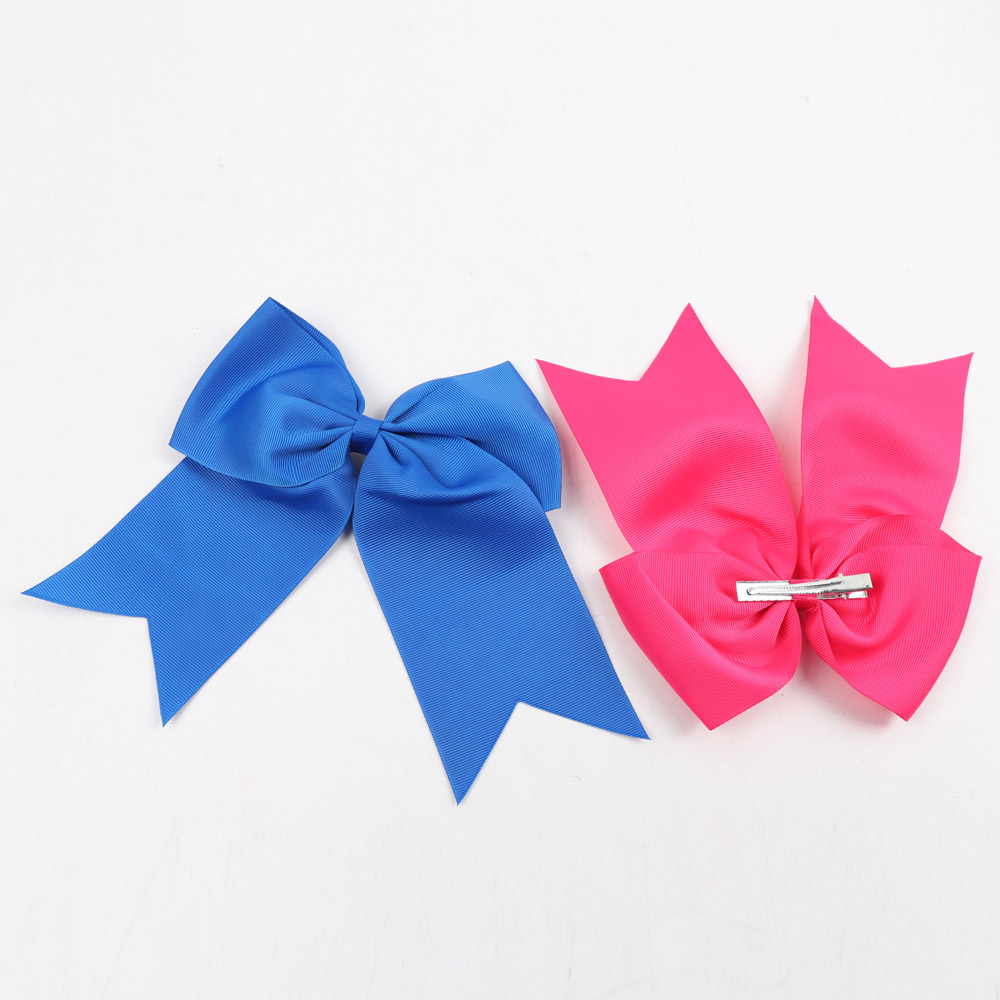 8Inch Large Ribbon Cheer Bow With Alligator Clips Cheerleader Party Hair Bows