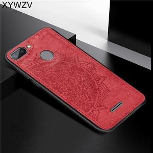 Image 1 - Xiaomi Redmi 6 耐震ソフト TPU シリコーン布テクスチャハード PC 電話ケース Xiaomi Redmi 6 裏表紙 Xiaomi redmi 6 Fundas