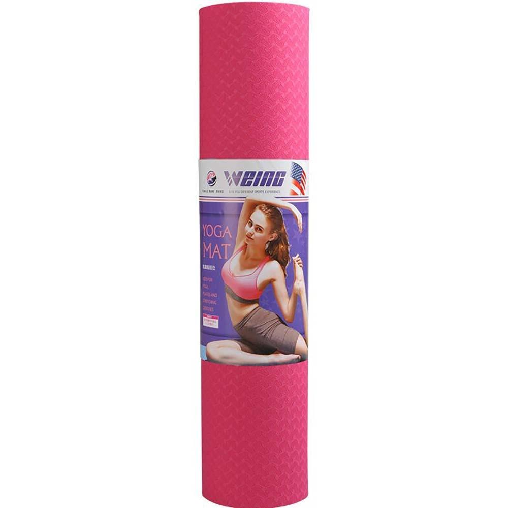 WEING Yoga mat beginners lengthened non slip men and women thickened widened tasteless finess yoga mats