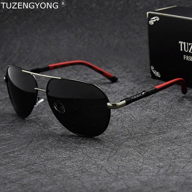 644962495fe Aluminum magnesium Men s Polarized Sunglasses Classic Pilot Sun Glasses  Coating Lens Eyewear Accessories for Men gafas de sol