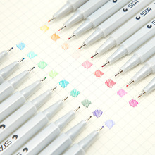 Kawaii Watercolor Ink Pen Marker Neutral Gel Pen Markers Student School Office Supplies Learning Stationery Papeleria sl1151 0 7mm white highlight pen sketch markers paint marker pen white ink gel pen for office school supplies joy corner