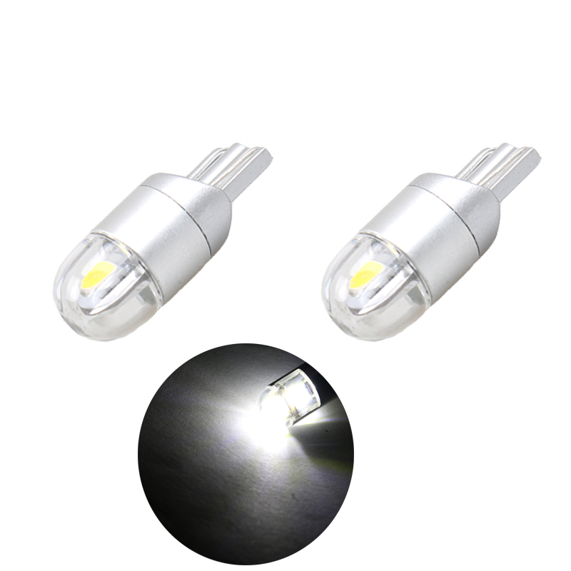 2x W5W LED 12V T10 Car lamps 168 194 Turn Side License Plate Light car parking Fog light clearance light white yellow