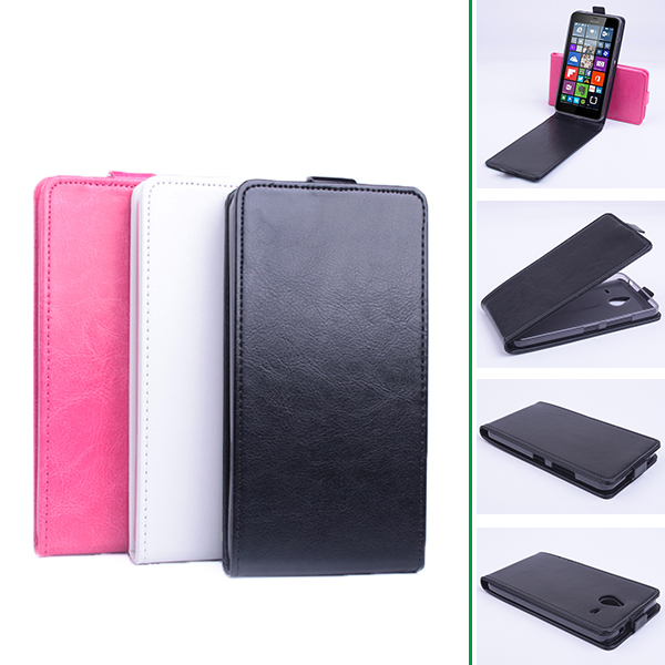 Luxury Leather Cover for Nokia Microsoft Lumia XL Flip Case Vertical Back