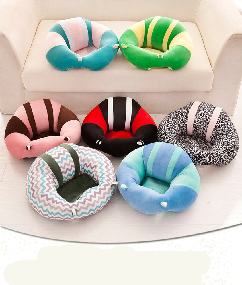 Colorful Baby Seat Support Seat Soft Sofa Cotton Safety Travel Car Seat Pillow Plush Legs Feeding Chair Baby Seats Sofa Dropship