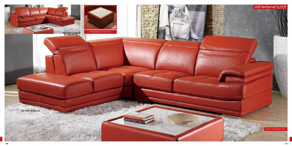 Top graded italian genuine leather sofa sectional living - Big size couch ...