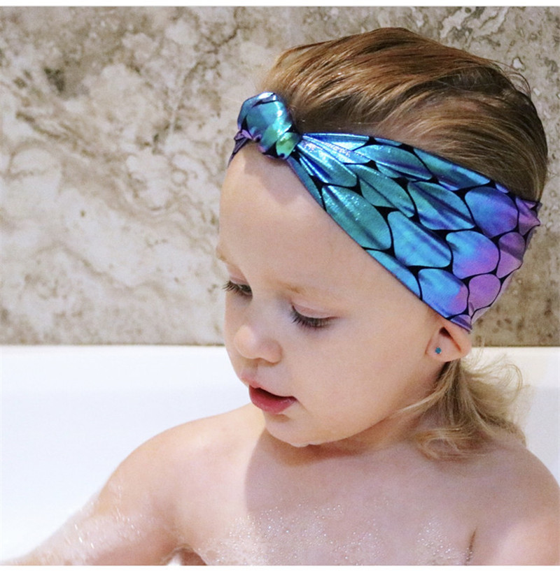 Fashion Infant Girls Mermaid Headband 2019 Girls Child Hair Accessories For Kids Colorful Hair Band Birthday Party   Headwear