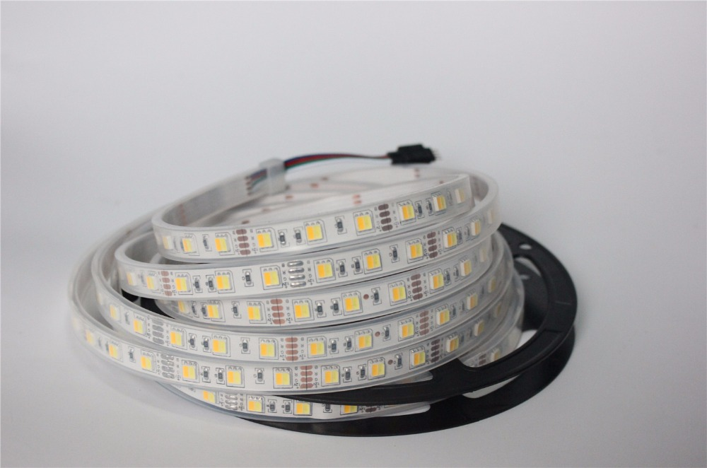 2 colors in 1 led 5050 LED Strip Dual White 5630 CW/WW color temperature 5m 300 LED tape Lights 12V IP67 waterproof