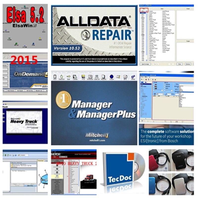 Новые hdd 1 ТБ alldata 10,53 и Митчелл по требованию авторемонт программного обеспечения + atsg передачи руководства яркий мастерской данных