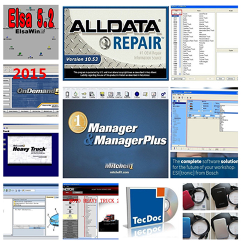 newest hdd 1tb alldata 10.53 and mitchell on demand auto repair software +atsg transmission manuals+vivid workshop data купить
