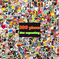 300pcs not repeating waterproof stickers for Home decor Travel Suitcase Wall Bike fridge Sliding Plate Car Styling sticker
