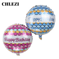 New Arrival 18 Inch Round Happy Birthday Foil Balloon Birthday Party Decoration Balloons Baby Kid Toys