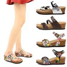 Sandálias de cunha de cortiça macia sandálias femininas 5.5cm salto alto sapatos de verão senhoras confortáveis gladiador praia slides mujer sandalias