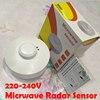 High Quality 220V 1200W Adjustable Microwave Radar Sensor Light Switch PIR Occupancy Body Motion Detector