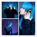 MCOSER Fashion 60cm Long Blue Mixed Cosplay Anime DRAMAtical Murder DMMD-Segaraki Aoba Wig