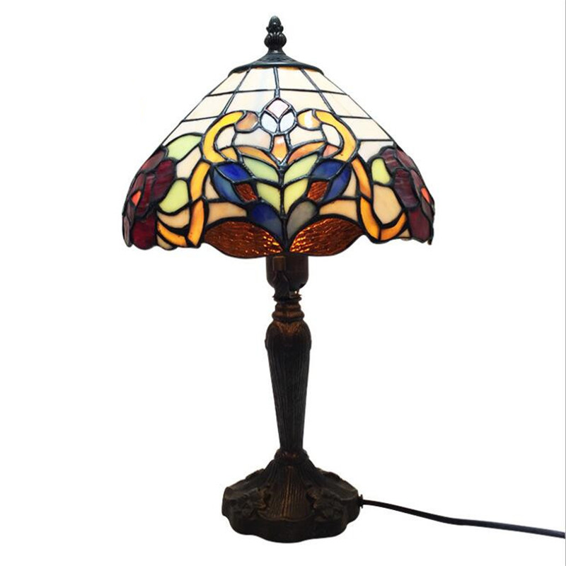 10 Vintage Retro Classical Tiffany Glass Table Lamp for Foyer Bed Room Bar Apartment Reading Lighting H 38cm 102210 Vintage Retro Classical Tiffany Glass Table Lamp for Foyer Bed Room Bar Apartment Reading Lighting H 38cm 1022