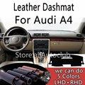 Кожаный коврик для приборной панели Audi A4  чехол для приборной панели  коврик от солнца  индивидуальный чехол для стайлинга автомобиля LHD + RHD  ...