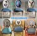 Europa Estilo Moda Antiga de madeira maciça de carvalho jantando a cadeira cadeira do lazer Americano