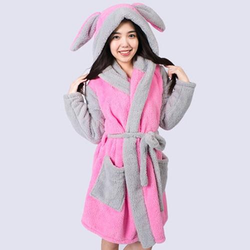 Cosplay-Women-Men-Hooded-Robe-Animal-Winter-Spring-Bathrobe-Pajamas-Thick-Leisurewear-with-Hood-Sleepwear-Cow