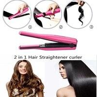 2017 Travel Hair Straightener Mini Flat Iron Portable USB Charge Hair Straight Iron 2 In 1