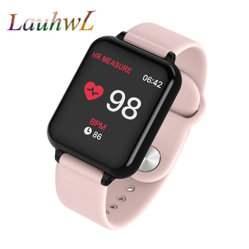 4bc43cf2f B57 Women Smart watches Waterproof Sports For Iphone phone Smartwatch Heart  Rate Monitor Blood Pressure Functions