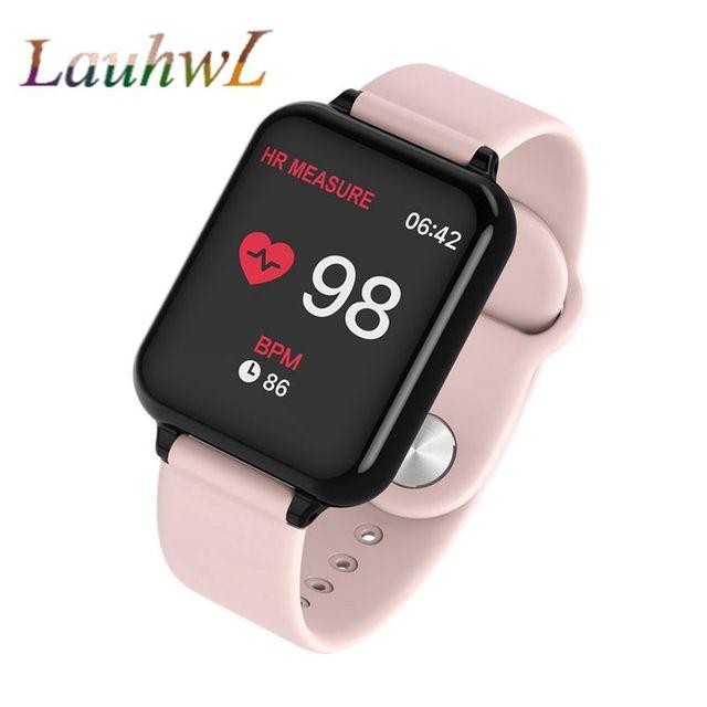 B57 נשים חכם שעונים עמיד למים ספורט עבור Iphone טלפון Smartwatch קצב לב צג לחץ דם פונקציות עבור ילד pk iwo