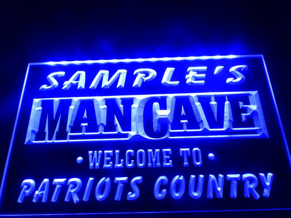 DZ036 Name Personalized Custom Man Cave Patriots Country