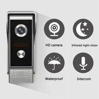 7 TFT LCD Wired Video Door Phone System Visual Intercom Doorbell 800x480 Indoor Monitor 700TVL
