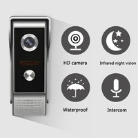 7 TFT LCD Wired Video Door Phone System Visual Intercom Doorbell 800x480 Indoor Monitor 700TVL