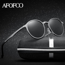 AFOFOO Aluminium Magnesium Polarized Sunglasses Fashion Brand Designer Men Women Driving Sun glasses Male UV400 Shades Eyewear