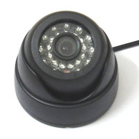 1 3 600TVL SONY CCD IR Color CCTV Indoor Dome Security Camera 24 LEDs Day And