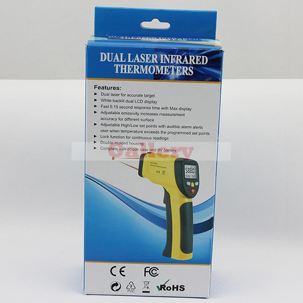 Good Quality Portable Xintest Ht-817 Handheld Double Laser Infrared Thermometer Digital Temperature Laser Infrared Thermometer handheld laser portable high quality indoor air quality detector page 9