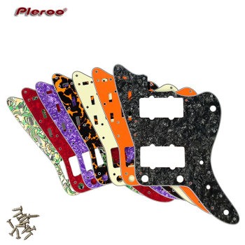 Pleroo Guitar accessories pickguards suit  - For MIJ Japan Jazzmaster Style Guitar Pickguard Scratch Plate Replacement 5pcs electric guitar pickguard for yamaha pacifica 112v replacement 3ply white pearl