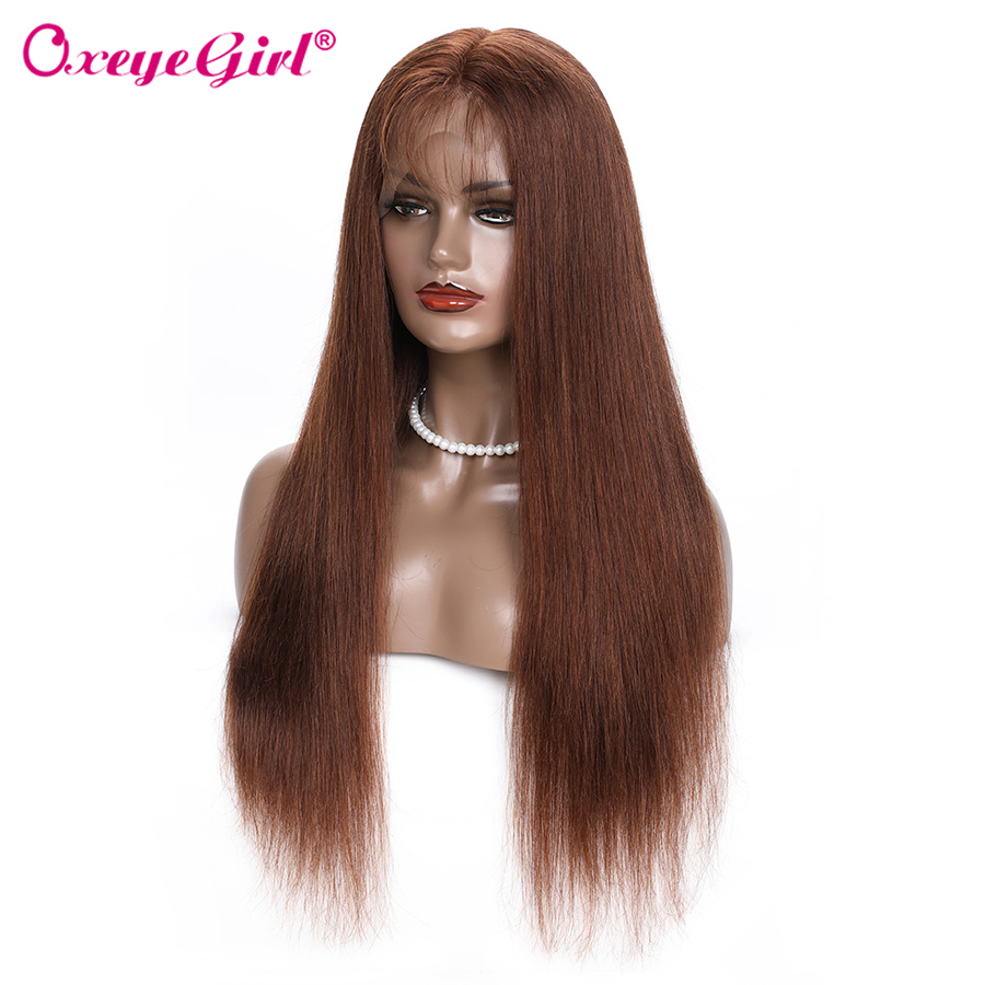 Oxeye girl 13x6 Lace Front Human Hair Wigs Pre Plucked Brazilian Hair Straight Lace Front Wig