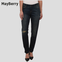 MayBerry Jeans Women S Jeans Boyfriend Relaxed Mid Rise Ripped Jeans Premium Denim Collection 88166