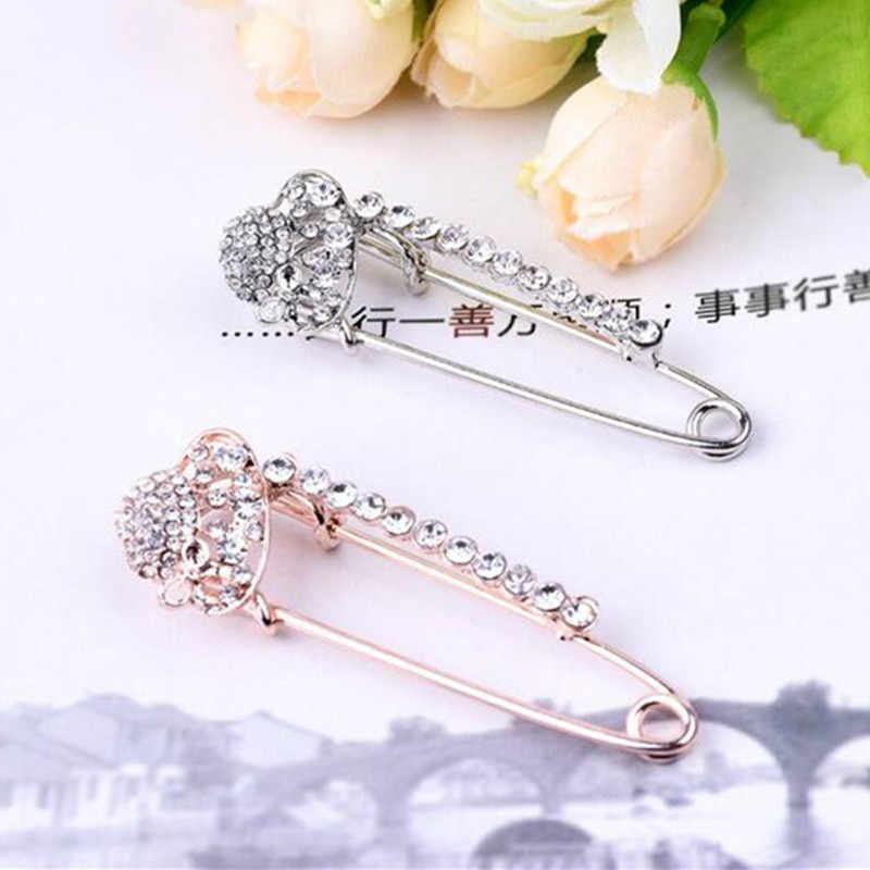 Fashion Kristal Vintage Bros Pin Dress Hiasan Berlian Imitasi Perhiasan untuk Pria Wanita Pin Gaun Mantel Aksesoris Hadiah