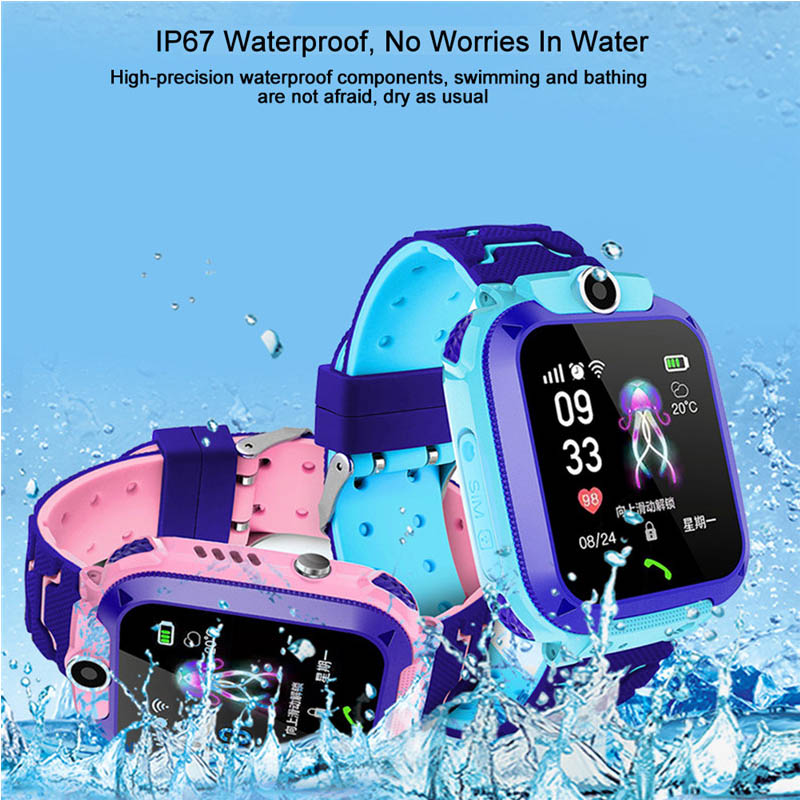 Location-Tracker Smartwatch Voice-Chat Waterproof IP67 Photograph Call Children Sos-Antil-Lost