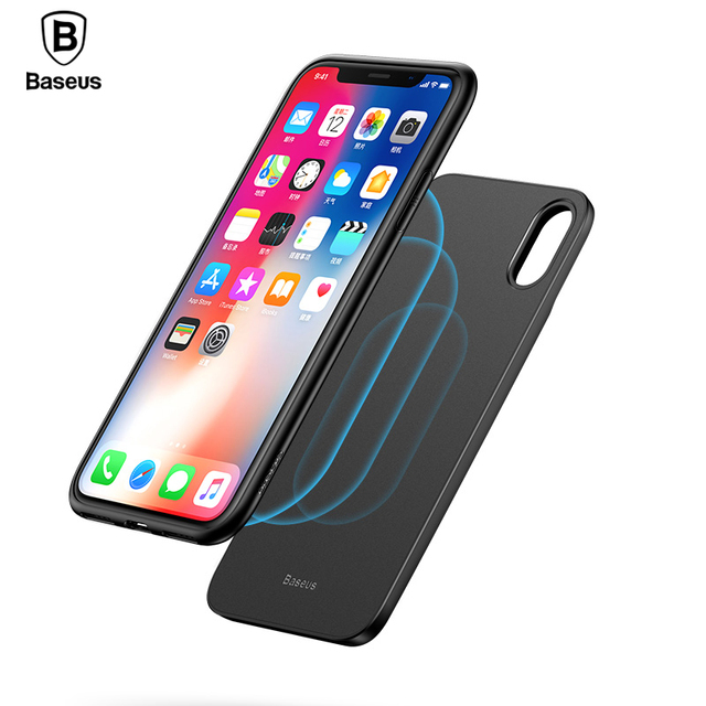 new arrival f1f48 f70d0 Baseus 5000mAh QI Wireless Charger Case For iPhone X External Battery  Backup Wireless Charging Power Bank For Samsung S9 S8 Plus-in Battery  Charger ...