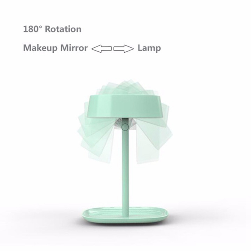 Mirrors Brainbow 1pc Makeup Mirror Led Mirror Light Rechargable Led Light Lamp Desktop Table Stand Lamp Bed Lamp Usb Charger Decor Gifts Beauty & Health