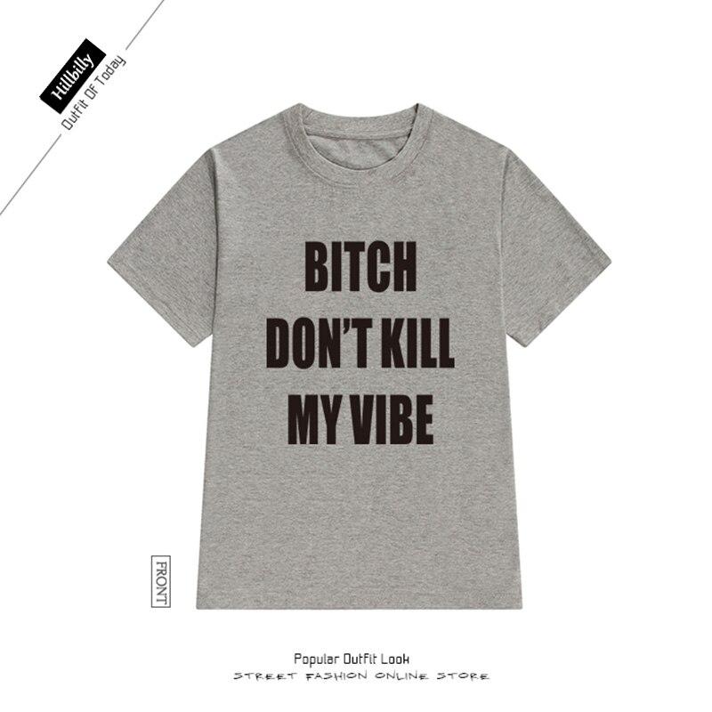 Hinterwäldler T-shirts Frauen Brief Druck Hündin Töte nicht meine - Damenbekleidung - Foto 4