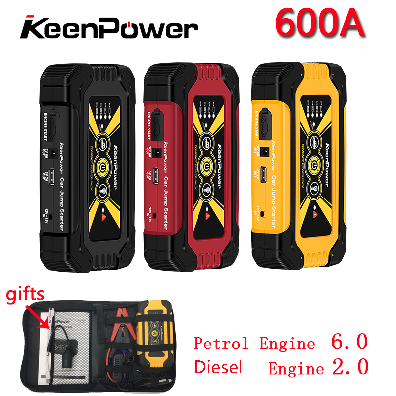 Keenpower Hohe Qualität Mini Auto Starthilfe 12 v Auto-Stlying Ausgangs Gerät 600A Ladegerät Auto Batterie Booster Buster