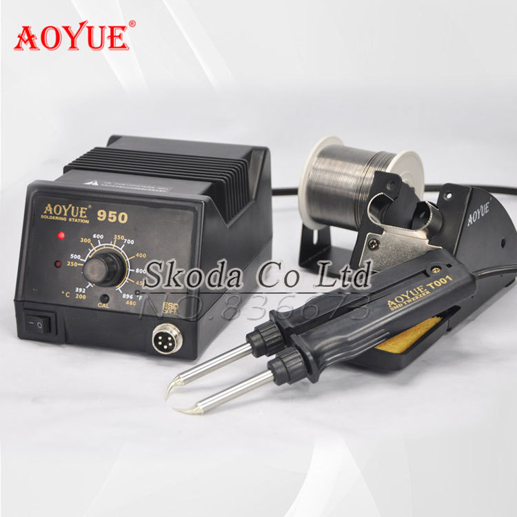 AOYUE 950 Hot Tweezer Soldering Station ESD adjustable temperature IC soldering station Repair SMD SOP rework station 50 pcs ic max3232ese max3232 sop 16 16pin