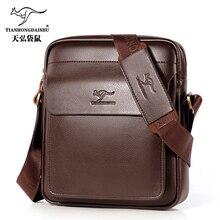 2020 new mens Messenger bag men small leather shoulder bags male casual mini Flap back pack man business  IPAD Messenger bags