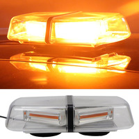 YHAAVALE Amber 30W Car COB LED Emergency Strobe Light,Police Law Enforcement Top Caution Warning Safety Flashing Mini Light Bar