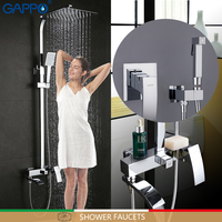 GAPPO Shower Faucets Bathroom Mixer Rainfall Shower Set Bidet Faucets Muslim Shower Bidet Toilet Sprayer Bathroom